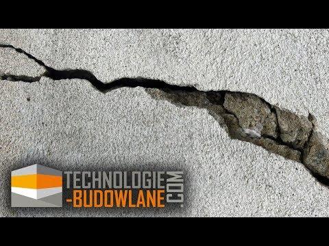 Klejenie i naprawa rysy w betonie