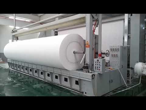Produkcja geowłókniny PET – linia produkcyjna