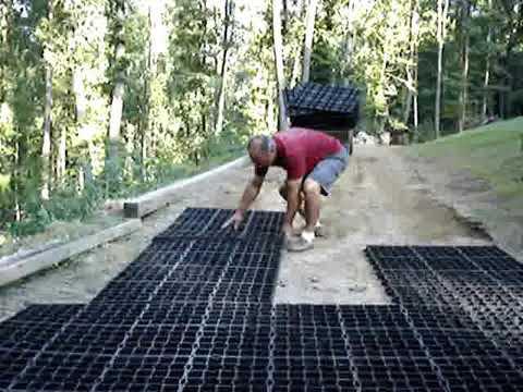 Trawnik na podjeździe – instalacja geokraty StabiliGrid