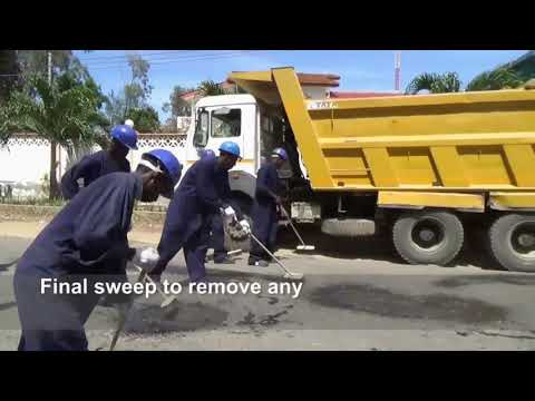Remont nawierzchni drogowej z wykorzystaniem geosyntetyków