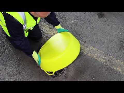 Naprawa dziur w betonowej podłodze