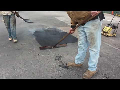 Naprawa asfaltu – ubytki w asfalcie na parkingu – szybkie naprawy