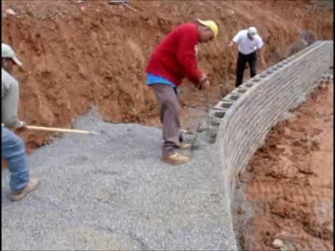 Budowa muru oporowego z prefabrykatów GeoSton