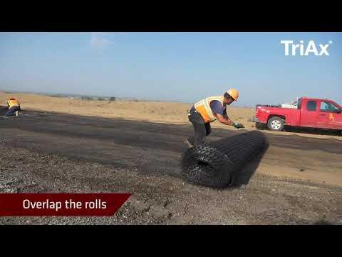 Jak zainstalować georuszty Tensar TriAx w projektach drogowych