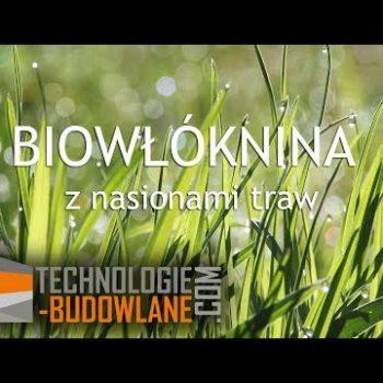 Biowłóknina – biomata z nasionami traw